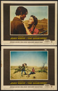 """Movie Posters:Western, The Searchers (Warner Brothers, 1956). Lobby Cards (2) (11"""" X 14""""). Western.. ... (Total: 2 Items)"""