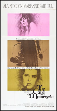 """The Girl on a Motorcycle (Warner Brothers, 1968). Three Sheet (41"""" X 81""""). Romance"""