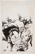 Original Comic Art:Covers, John Buscema Mephisto vs.... #3 X-Men Cover Original Art(Marvel, 1987)....