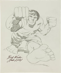 Jack Kirby The Hulk Signed Pencil Illustration Original Art (undated)