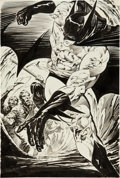 Original Comic Art:Illustrations, Bernie Wrightson Batman: The Cult Promotional Poster Illustration Original Art (1988)....