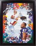 """Football Collectibles:Others, 1992 """"Super Bowl XXVI - The Final Contenders"""" Danny Day Original Painting...."""