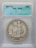 1877-S T$1 VG8 ICG. NGC Census: (1/1044). PCGS Population (4/1572). Mintage: 9,519,000. Numismedia Wsl. Price for proble...
