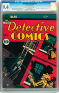 Golden Age (1938-1955):Superhero, Detective Comics #56 (DC, 1941) CGC NM 9.4 Off-white to white pages....