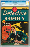 Golden Age (1938-1955):Adventure, Detective Comics #26 (DC, 1939) CGC VG 4.0 Cream to off-white pages....