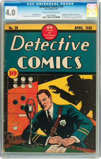 Detective Comics #26 (DC, 1939) CGC VG 4.0 Cream to off-white pages