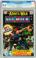 Silver Age (1956-1969):War, Our Army at War #168 (DC, 1966) CGC NM+ 9.6 Off-white to white pages....