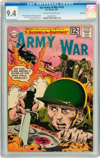 Our Army at War #119 Savannah pedigree (DC, 1962) CGC NM 9.4 Off-white to white pages