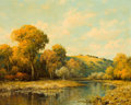 Texas:Early Texas Art - Regionalists, A. D. GREER (American, 1904-1998). Autumn Hills. Oil oncanvas . 24 x 30 inches (61.0 x 76.2 cm). Signed...