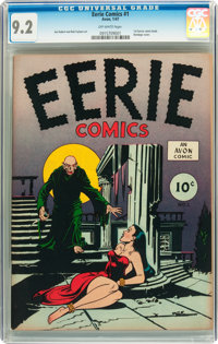 Eerie #1 (Avon, 1947) CGC NM- 9.2 Off-white pages