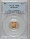 Commemorative Gold: , 1916 G$1 McKinley MS62 PCGS. PCGS Population (376/3667). NGCCensus: (256/1943). Mintage: 9,977. Numismedia Wsl. Price for ...
