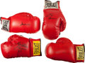 Boxing Collectibles:Autographs, Boxing Legends Signed Gloves Lot of 4 - With Ali Example!...