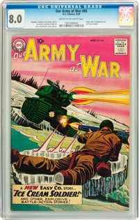 Our Army at War #85 (DC, 1959) CGC VF 8.0 Cream to off-white pages