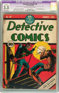 Golden Age (1938-1955):Superhero, Detective Comics #30 (DC, 1939) CGC Apparent VG- 3.5 Moderate (P) Light tan to off-white pages....