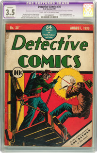 Detective Comics #30 (DC, 1939) CGC Apparent VG- 3.5 Moderate (P) Light tan to off-white pages