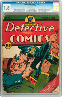 Detective Comics #32 (DC, 1939) CGC GD- 1.8 Off-white pages