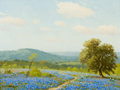 Texas:Early Texas Art - Regionalists, PORFIRIO SALINAS (American, 1910-1973). Spring in Texas .Oil on canvas . 12 x 16 inches (30.5 x 40.6 cm). Signed lower ...
