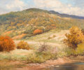 Paintings, ROBERT WILLIAM WOOD (American, 1889-1979). Texas Hills, 1953. Oil on canvas. 25 x 30 inches (63.5 x 76.2 cm). Signed and...