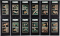 Baseball Cards:Sets, 1951 Berk Ross Uncut Panels Near Set (35/36) - #1 on the SGC SetRegistry! ...