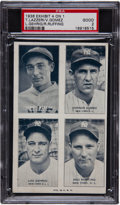 Baseball Cards:Singles (1930-1939), 1936 Exhibit 4 On 1 Gehrig/Lazzeri/Gomez/Ruffing PSA Good 2....