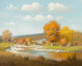 Western:Contemporary, G. (GERALD HARVEY JONES) HARVEY (American, b. 1933). GoldenElms, 1966. Oil on canvas . 24 x 30 inches (61.0 x 76.2 cm)...