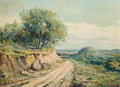Paintings, PAUL RICHARD SCHUMANN (American, 1876-1946). Cross Mountain. Oil on canvas. 16 x 22 inches (40.6 x 55.9 cm). Signed lowe...