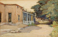 Texas:Early Texas Art - Drawings & Prints, EDWARD G. EISENLOHR (American, 1872-1961). The House with theBlue Porch, Santa Fé, 1919. Watercolor and pencil on paper...