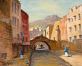 Western:Contemporary, ROLLA SIMS TAYLOR (American, 1872-1970). Street of Guanajuato, 1959. Oil on canvas. 16 x 20 inches (40.6 x 50.8 cm). Sig...