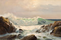Texas:Early Texas Art - Regionalists, ROBERT WILLIAM WOOD (American, 1889-1979). Crashing Waves,1957. Oil on canvas. 24 x 36 inches (61.0 x 91.4 cm). Signed ...