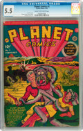 Golden Age (1938-1955):Science Fiction, Planet Comics #2 (Fiction House, 1940) CGC FN- 5.5 Cream tooff-white pages....