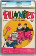Platinum Age (1897-1937):Miscellaneous, The Funnies #1 Lost Valley pedigree (Dell, 1936) CGC FN 6.0 Creamto off-white pages....