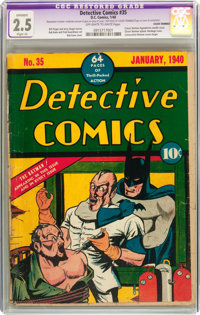 Detective Comics #35 (DC, 1940) CGC Apparent GD+ 2.5 Slight (A) Off-white to white pages