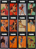 "Non-Sport Cards:Sets, 1940's Mutoscope ""Artist Pin Up Girls"" Complete Set (64). ..."