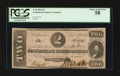 Confederate Notes:1862 Issues, Fully Framed T54 $2 1862.. ...