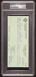 Baseball Collectibles:Others, 1994 Curt Flood Double Signed Check. ...