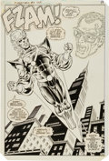 Original Comic Art:Splash Pages, Pat Broderick and Dick Giordano The Fury of Firestorm#5 Splash Page 16 Original Art (DC, 1983)....