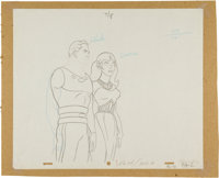 The New Adventures of Flash Gordon Production Drawing Animation Art (Filmation, 1979)