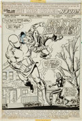 Original Comic Art:Panel Pages, Sal Buscema and Frank Giacoia Nova #9 Splash Page 1 Original Art (Marvel, 1977)....