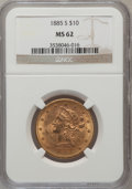 Liberty Eagles: , 1885-S $10 MS62 NGC. NGC Census: (242/75). PCGS Population(253/87). Mintage: 228,000. Numismedia Wsl. Price for problem fr...