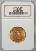 Liberty Eagles: , 1906-O $10 MS61 NGC. NGC Census: (71/137). PCGS Population(50/132). Mintage: 86,895. Numismedia Wsl. Price for problem fre...
