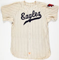 Baseball Collectibles:Uniforms, 1955 Dallas Eagles (Texas League) Game Worn Jersey....