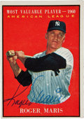 Autographs:Sports Cards, 1961 Topps Roger Maris #478, Signed....