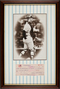 Autographs:Checks, 1978 Thurman Munson Signed New York Yankees Check....