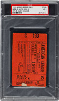 Baseball Collectibles:Tickets, 1919 World Series Game Five Ticket Stub, PSA VG 3....