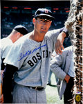 Baseball Collectibles:Photos, Ted Williams Signed Oversized Photographs Lot of 3....