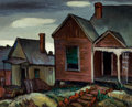 Texas:Early Texas Art - Regionalists, OTIS DOZIER (American, 1904-1987). Old Houses, McKinney AveDallas, 1932. Oil on canvas . 16 x 20 inches (40.6 x 50.8 cm...