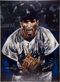 Autographs:Others, Circa 2000 Sandy Koufax Signed Giclee by Stephen Holland. ...