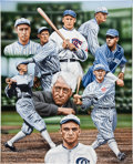 Baseball Collectibles:Others, 2010 The Black Sox & Commissioner Landis Original Artwork by Darryl Vlasak....