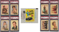 Non-Sport Cards:Sets, 1960 Fleer Spins And Needles High Grade Complete Set (80) WithWrapper. ...