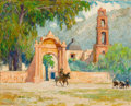 Paintings, PROPERTY FROM A PRIVATE COLLECTION, SAN DIEGO. FREMONT F. ELLIS (American, 1897-1985). The Mission Gate, 1956. Oil on ...